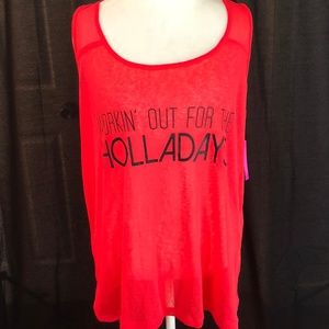 Material Girl Active Work For The Holladays Tank